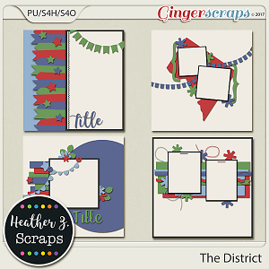 The District TEMPLATES by Heather Z Scraps