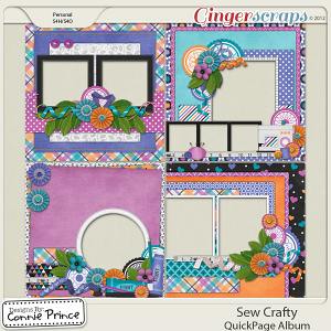 Retiring Soon - Sew Crafty - QuickPage Album