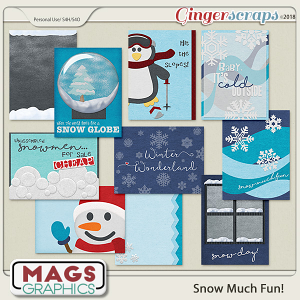 Snow Much Fun JOURNAL CARDS by MagsGraphics