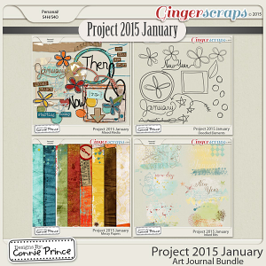 Project 2015 January - Art Journal Bundle