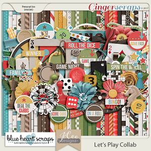 Let's Play Kit by Blue Heart Scraps and JoCee Designs