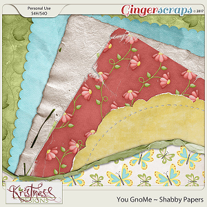 You GnoMe Shabby Papers