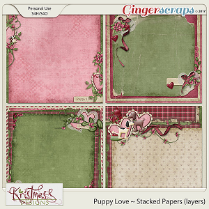 Puppy Love Stacked Papers (layers)