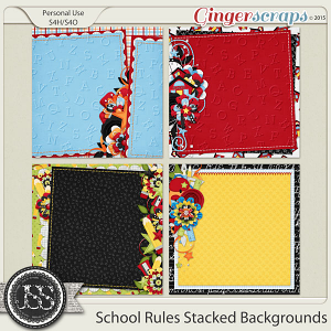 School Rules Stacked Backgrounds