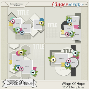 Wings Of Hope - 12x12 Templates (CU Ok)