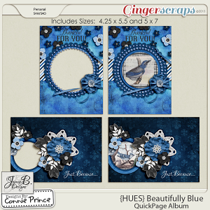 {HUES} Beautifully Blue - Printable Greeting Cards