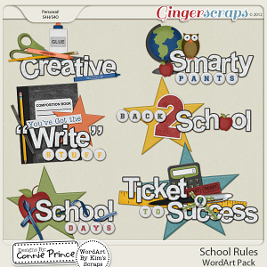 Retiring Soon - School Rules - WordArt