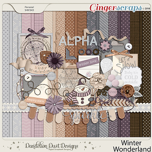 Winter Wonderland Digital Scrapbook By Dandelion Dust Designs