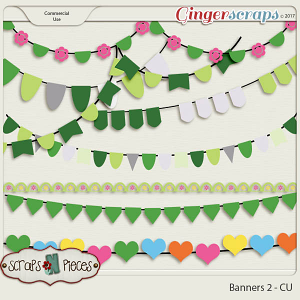 Banners 2 CU Templates - Scraps N Pieces