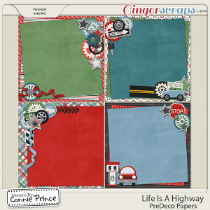 Life Is A Highway - PreDeco Papers