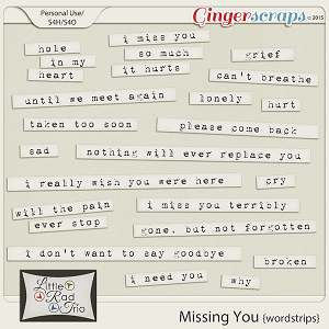 Missing You {word strips} by Little Rad Trio