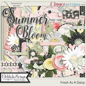 Fresh As A Daisy Digital Scrapbook Kit