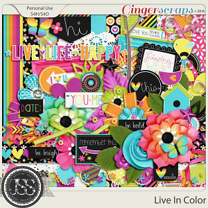 Live In Color Digital Scrapbooking Kit
