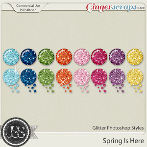 Spring Is Here CU Glitter Photoshop Styles
