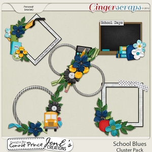 Retiring Soon - School Blues - Cluster Pack