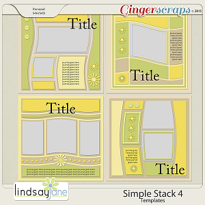 Simple Stack 4 Templates by Lindsay Jane