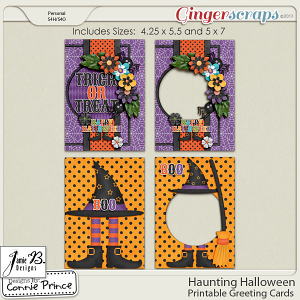 Retiring Soon - Haunting Halloween - Printable Greeting Cards