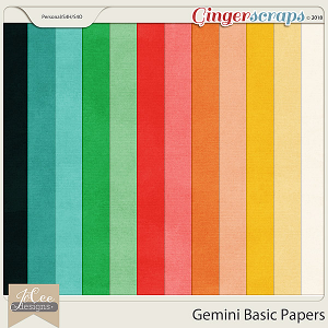 Gemini Basic Papers by JoCee Designs
