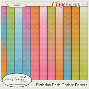Birthday Bash Ombre Papers