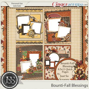 Bounti-Fall Blessings 8.5x11 Quick Pages