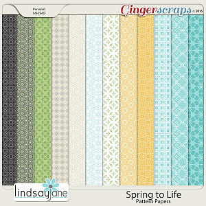 Spring to Life Pattern Papers by Lindsay Jane