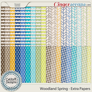 Woodland Spring - Extra Papers