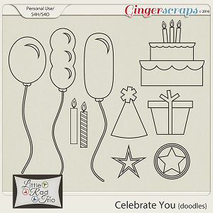 Celebrate You {Doodles} by Little Rad Trio