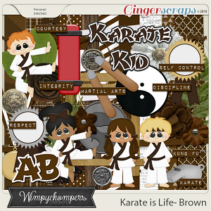 Karate is Life- Brown