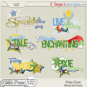 Pixie Dust - WordArt Pack