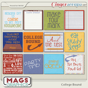 College Bound JOURNAL CARDS by MagsGraphics