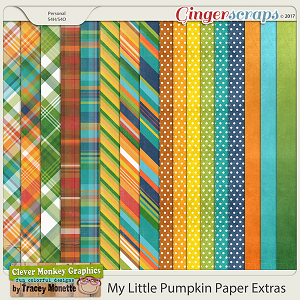 My Little Pumpkin Extra Papers by Clever Monkey Graphics