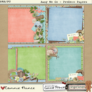 Retiring Soon - Away We Go: PreDeco Paper Pack by Connie Prince