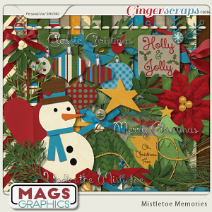 Mistletoe Memories KIT by MagsGraphics