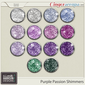 Purple Passion Shimmers by Aimee Harrison