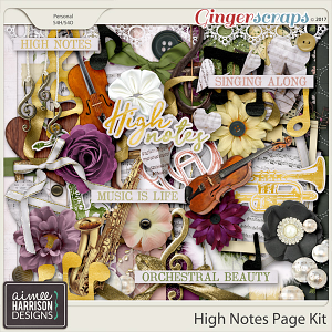 High Notes Page Kit by Aimee Harrison
