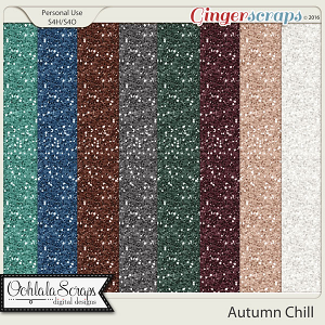 Autumn Chill Glitter Papers