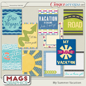 My Summer Vacation JOURNAL CARDS by MagsGraphics
