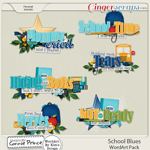 Retiring Soon - School Blues - Word Art