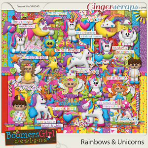 Rainbows & Unicorns by BoomersGirl Designs