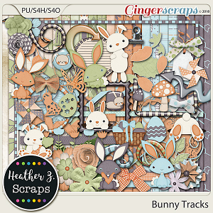 Bunny Tracks KIT by Heather Z Scraps