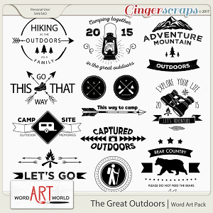 The Great Outdoors Word Art
