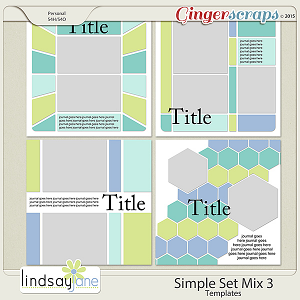 Simple Set Mix 3 Templates by Lindsay Jane