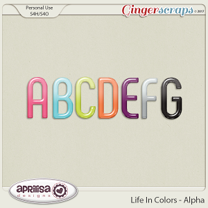 Life In Colors - Alpha by Aprilisa Designs