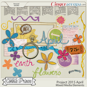 Project 2015 April - Mixed Media Elements