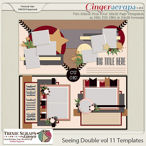 Seeing Double volume 11 Template Pack by Trixie Scraps Designs