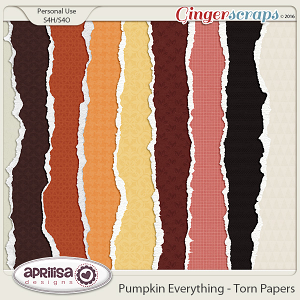 Pumpkin Everything - Torn papers by Aprilisa Designs