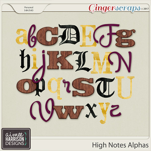 High Notes Alpha Sets by Aimee Harrison