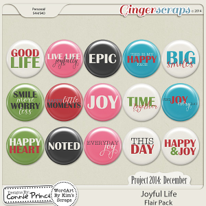 Project 2014 December: Joyful Life - Flair Pack