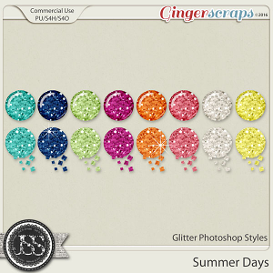 Summer Days Glitter CU Photoshop Styles