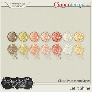 Let It Shine Glitter Photoshop Styles
